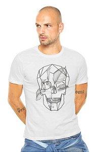 Camiseta Ellus Geo Caveira Bege MASCULINA