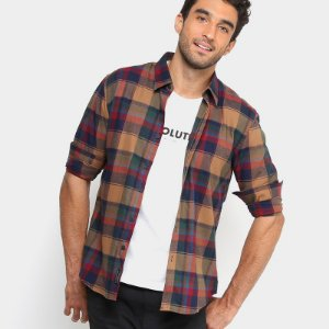 Camisa Xadrez Ellus 2nd Floor CHARLE CHECK NEW CLASSIC FRENCH MASCULINA
