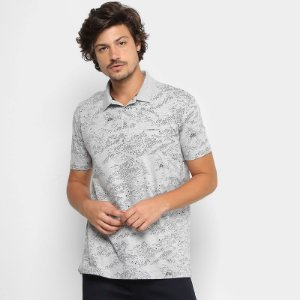 Camisa Polo Ellus 2nd Floor Estampada CO CLASSIC MAPS MASCULINA