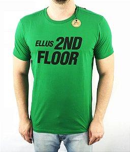 Camiseta Ellus 2nd Floor BÁSICA ESF FUTURE VERDE MASCULINA