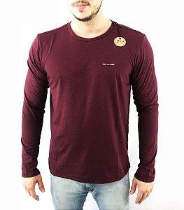Camiseta Ellus 2nd Floor MANGA LONGA FLAME ESF MASCULINA VINHO