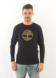 Camiseta Manga Longa Timberland Preta