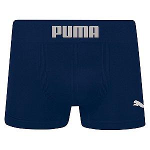 Cueca Boxer Puma Sem Costura Azul Marinho
