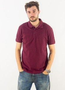 POLO PIQUET ASA ALL OVER ELLUS MASCULINA VINHO