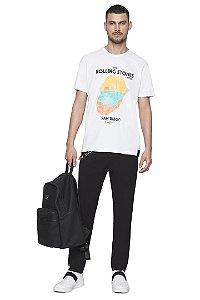 Camiseta Ellus Rolling Stones California - BRANCA
