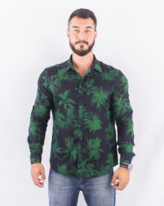 CAMISA SATURN PALMS CLASSIC FRENCH ELLUS - verde