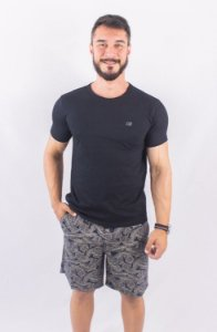 CAMISETA ELLUS 2ND FLOOR BASIC PRETA MASCULINA