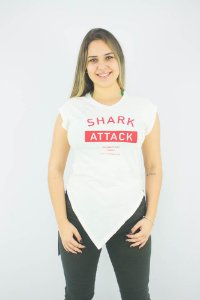CAMISETA ELLUS FEMININA CO VINTAGE SHARK ATTACK CARECA MC