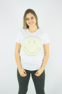Camiseta Ellus Second Floor Holographic Smiley Feminino