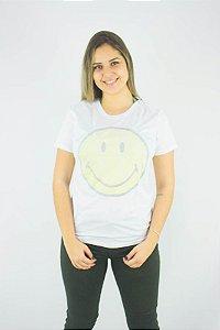 Camiseta Ellus Second Floor Holographic Smiley Feminino