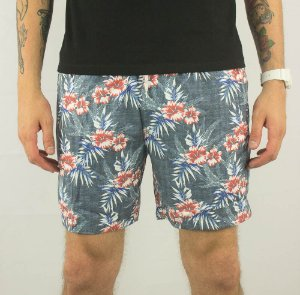 SHORT MASCULINO COTTON NYLON HIBISCO JAB