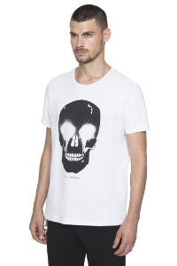 CAMISETA ELLUS COTTON FINE AH SKULL SPRAY CLASSIC MC