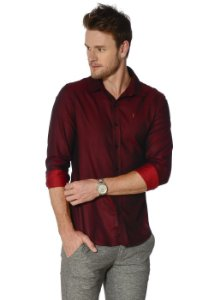 CAMISA RED FEATHER LUST BORDÔ