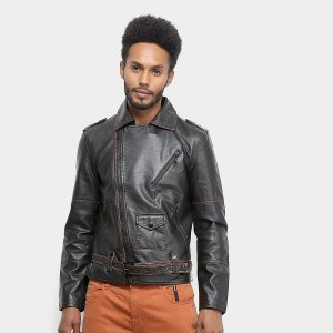 Jaqueta Ellus Leather Wash Perfecto Masculina