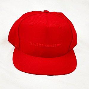 Boné Ellus Originals Aba Reta vermelho