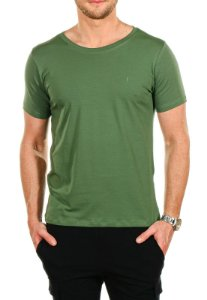 CAMISETA BÁSICA VERDE MILITAR RED FEATHER