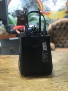 MINI SHOPPING BAG ELLUS DUPLA FACE PRETA FEMININA