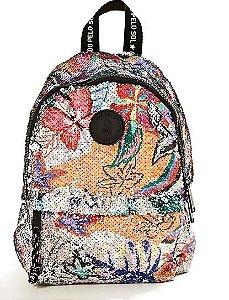 Mini mochila xodozinha floral berlim