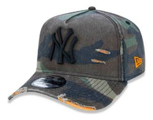 BONÉ NEW ERA  ABA CURVA 940 COTTON DAMAGE CAMUFLADO NY