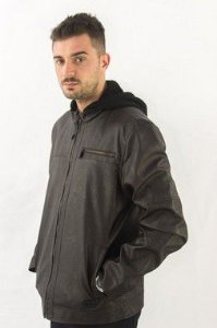 Jaqueta Ellus 2nd Floor Leather Denim Hooded