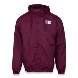 JAQUETA NEW ERA CORTA VENTO WINDBREAKER MASCULINA BORDÔ