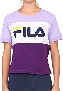 Camiseta Fila Maya feminina roxa