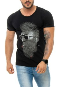 CAMISETA RED FEATHER BLAZING MASCULINA PRETO