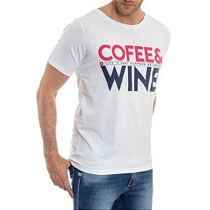 CAMISETA RED FEATHER COFEE E WINE MASCULINA