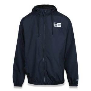 JAQUETA PLUS SIZE CORTA VENTO (WINDBREAKER) LOGO BOX