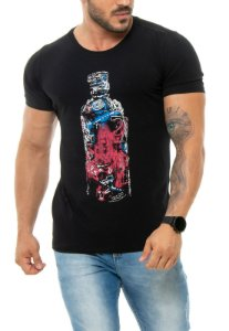 CAMISETA RED FEATHER NEON BOTTLE MASCULINA