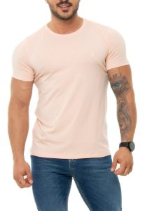CAMISETA RED FEATHER BÁSICA ROSA CLARO MASCULINA