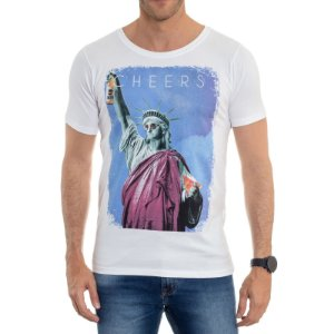 CAMISETA RED FEATHER CHEERS  MASCULINA