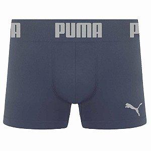 Cueca Boxer Puma sem costura cinza chumbo masculina