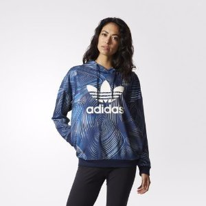 Blusa Capuz Oversize Blue Geology adidas Originals