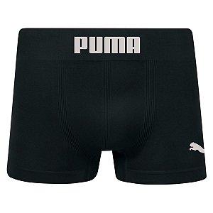 Cueca Boxer Puma sem costura masculina preto