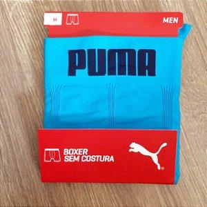 Cueca Boxer Puma sem costura masculina turquesa