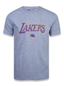 Camiseta New Era Lakers mescla masculina