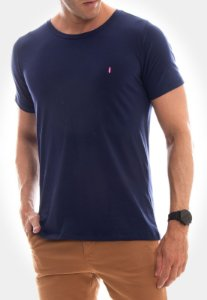 CAMISETA RED FEATHER Básica azul marinho masculina