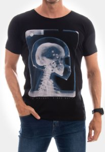 CAMISETA RED FEATHER X RAY SKULL