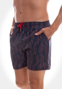 SHORT RED FEATHER SWIM PENA LARANJA FUNDO MARINHO MASCULINO