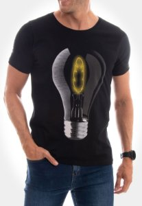 CAMISETA RED FEATHER BULB