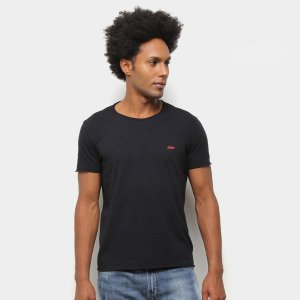 Camiseta Ellus Cotton Vintage Basic Raw Edge Classic