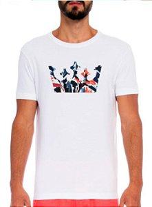 Camiseta Osklen Slim Stone Coroa Flower
