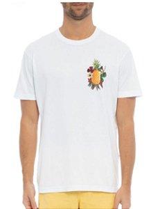 Camiseta Osklen Regular Stone Abacaxi Floral