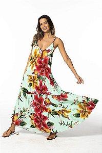 Vestido Farm Cropped Bordando Flor