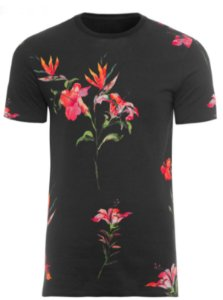 Camiseta Osklen Double Hibiscus Night