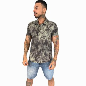 CAMISA RED FEATHER SPORT FOLHAGEM PRETO