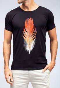 Camiseta Red Feather Red And White Feather