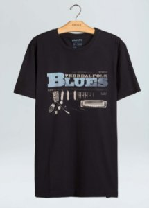 Camiseta Osklen Slim Vintage Blues