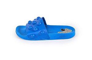 Slide Farm Praiana Bolotas Azul Cerâmica